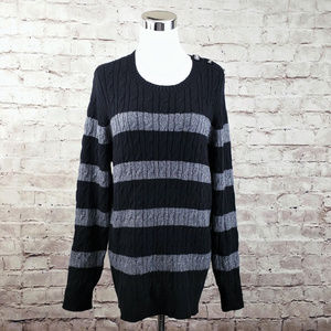 NWT Charter Club 1X Cable Knit Scoop Neck Sweater